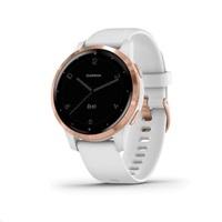 Garmin monitorovací náramek a hodinky vívoactive4S RoseGold/White Band
