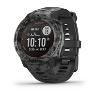 Garmin GPS sportovní hodinky Instinct Solar Camo Black Optic