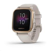Garmin GPS sportovní hodinky Venu Sq Music, RoseGold/Sand Band
