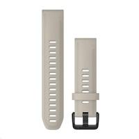 Garmin řemínek QuickFit 20, silikonový, béžový, černá přezka