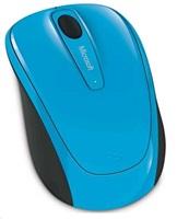 Microsoft Wireless Mobile Mouse 3500, azurově modrá