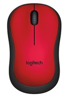myš Logitech Wireless Mouse M220 silent red