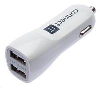 CONNECT IT USB PREMIUM nabíječka univerzální do auta (2x USB 3,1A a 1A), bílá