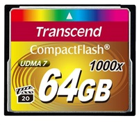 TRANSCEND Compact Flash 64GB Ultimate (1000x)