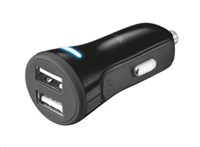 TRUST nabíječka do auta 20W FAST DUAL CAR CHARGER FOR PHONES AND TABLETS, black