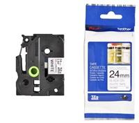 BROTHER TZEN251 - kazeta TZ šířky 24mm, NElaminovaná TZE-251, bílá/černé písmo