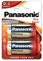 PANASONIC Alkalické baterie Pro Power LR20PPG/2BP D 1,5V (Blistr 2ks)