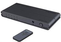 PremiumCord HDMI switch 4:1, 4Kx2K@60Hz, 1080P, HDR, dálkové ovládání