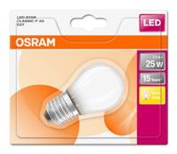 OSRAM LED STAR CL P GL Fros. 2,5W 827 E27 250lm 2700K (CRI 80) 15000h A++ (Blistr 1ks)