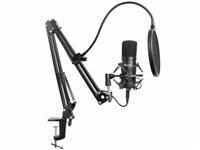 Sandberg mikrofonní sestava pro streamování, USB, černá