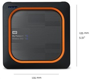 WD My Passport Wireless SSD 250GB Ext. USB3.0, SD Card,