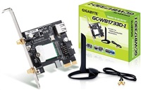 GIGABYTE GC-WB1733D-I, WiFi 802.11ac, Bluetooth 5, PCIe, Dual Band, 1734 Mbps