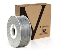 VERBATIM 3D Printer Filament PLA 1.75mm, 335m, 1kg silver/metal grey (55275)