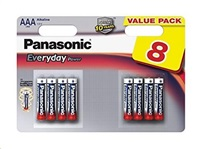 PANASONIC Alkalické baterie Everyday Power  LR03EPS/8BW AAA 1,5V (Blistr 8ks)