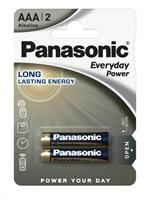 PANASONIC Alkalické baterie Everyday Power  LR03EPS/2BP AAA 1,5V (Blistr 2ks)