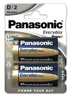 PANASONIC Alkalické baterie Everyday Power  LR20EPS/2BP D 1,5V (Blistr 2ks)