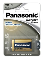 PANASONIC Alkalické baterie Everyday Power  6LF22EPS/1BP  9V 9V (Blistr 1ks)