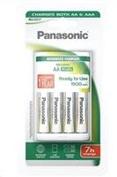PANASONIC Pokročilá nabíječka BQ CC17 K-KJ17MGD40E  vhodné pro AA/AAA (vč. 4x nabíjecí AA) 6 - 7h (Blistr 1ks)