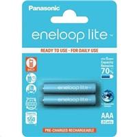 PANASONIC eneloop Lite Nabíjecí Baterie AAA 550mAh 1,2V  HR-4UQ-2BP (Blistr 2ks)