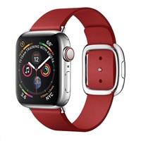COTEetCI kožený magnetický řemínek Nobleman pro Apple Watch 38 / 40mm červená