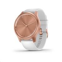 Garmin monitorovací náramek a hodinky vivomove3S  Style, RoseGold/White Band