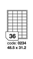 RAYFILM matné bílé polyesterové laser etikety 100ks/A4 *R0502.0234A