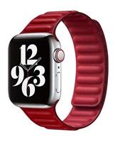 COTEetCI Double Suction kožený pásek pro Apple Watch 38 / 40mm červená