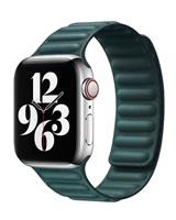 COTEetCI Double Suction kožený pásek pro Apple Watch 42 / 44mm zelená
