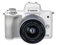 Canon EOS M50 Mark II + M15-45 STM - bílé