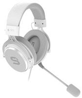 SilentiumPC sluchátka Gear Viro Plus Onyx, Headset, herní, náhlavní, drátový, 53mm měniče, mikrofon, 3,5mm jack, bílá