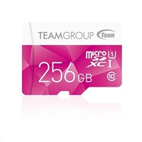 TEAM MicroSDXC karta 256GB Color Card UHS-I U1 + SD adapter