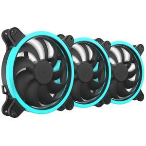 SilentiumPC sada přídavných ventilátorů Sigma HP Corona RGB 140 3-pack / 3x 140mm fan / RGB LED / ultratichý
