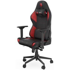 SPC Gear herní židle SR600 RD, imitace kůže, černo-červená