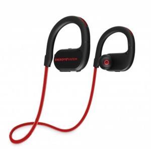 ENERGY Earphones BT Running 2 Neon Red, Bluetooth sluchátka s LED osvětlením