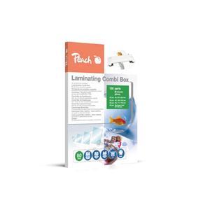 PEACH laminovací Combi Box 100, lam. fólie 20ks A4, 20ks A5, 20ks A6, 40ks vizitka, 80 mic