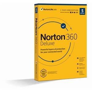 NORTON 360 DELUXE 50GB CZ 1uživatel pro 5 zařízení na 12 měsíců_Box
