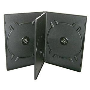 COVER IT Krabička na 4 DVD 19mm černý - karton 100ks