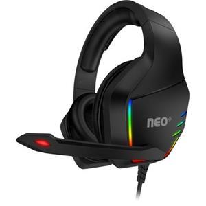 CONNECT IT NEO+ herní sluchátka s mikrofonem, 1xJack+USB+ adaptér 2xJack, ČERNÁ