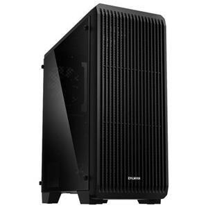 Zalman case miditower S2 TG, ATX, 3x 120mm ventilátor, 1x USB 3.0, 2x USB 2.0, průhledná bočnice, černá, bez zdroje