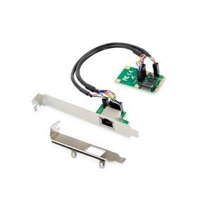 Digitus Gigabit Ethernet mini PCI Express Card, jeden port, nízkoprofilová záslepka, čipová sada Realtek