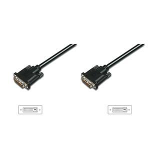 Digitus připojovací kabel DVI-D(24+1), Stíněný, DualLink, Černý, 2m