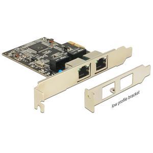 DeLock PCI Express 2x Gigabit LAN +low profile