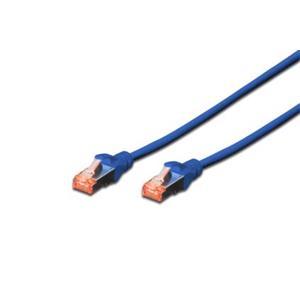 Digitus Patch Cable, S-FTP, CAT 6, AWG 27/7, LSOH, Měď, modrý 1m
