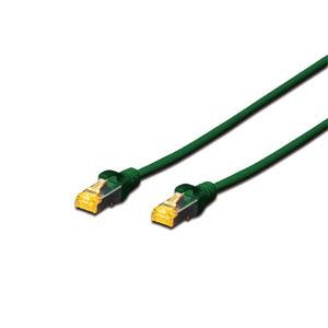 Digitus CAT 6A S-FTP patch cable, Cu, LSZH AWG 26/7, length 7 m, color green