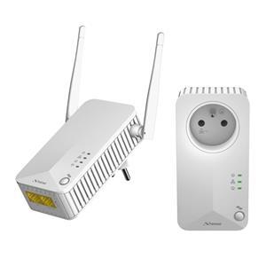 STRONG sada 2 adaptérů Powerline WF 500 DUO FR/ Powerline 500 Mbit/s/ Wi-Fi 300 Mbit/s/ 2x LAN/ bílý