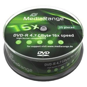 MEDIARANGE DVD-R 4,7GB 16x spindl 10ks