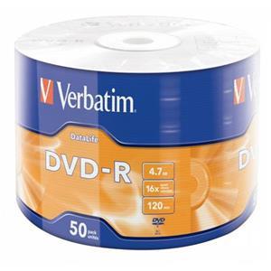VERBATIM DVD-R DataLife 4,7GB, 16x, wrap 50 ks