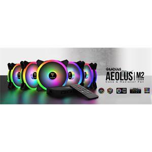 Gamdias sada RGB ventilátorů 5x 120mm AEOLUS M2-1205R