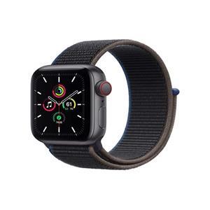 Apple Watch Series SE 44mm Cellular vesmírně šedý hliník s uhlovým provlékacím sportovním řemínkem