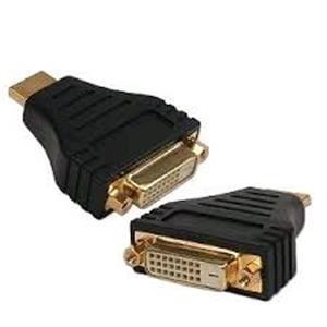Kabel GEMBIRD red. HDMI na DVI, M/F, zlacené kontakty, černá